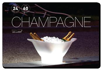 Location sceau à champagne led