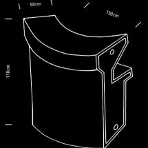 Dimensions du comptoir led