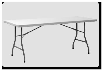 Location table pliante